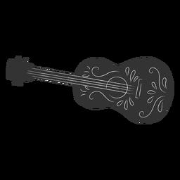Mexican guitar motifs cut out