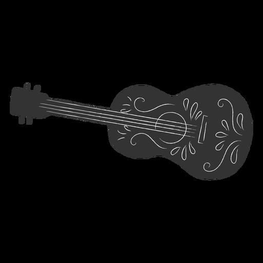 Mexikanische Gitarrenmotive ausgeschnitten