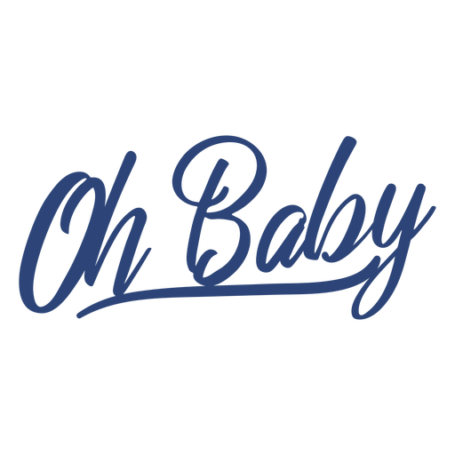 Oh babyblauer Schriftzug