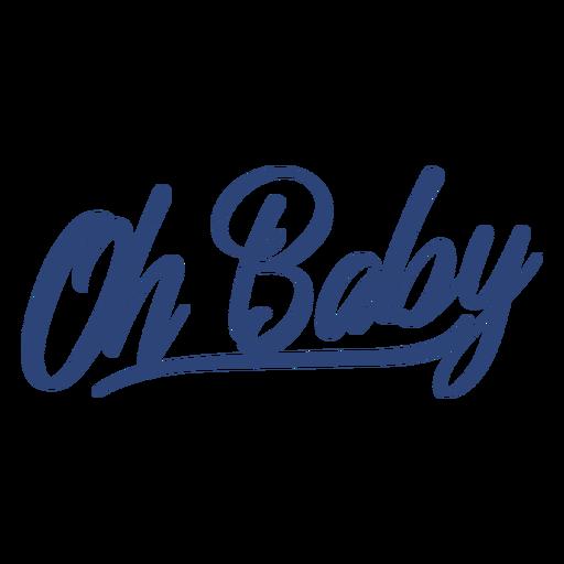 Oh letras azul bebê