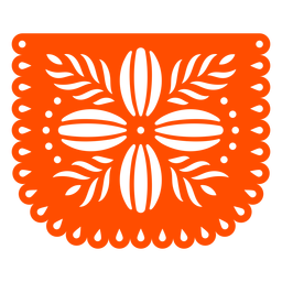 Orange Blume Papel Picado
