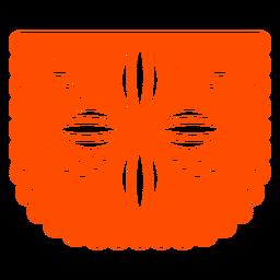 Orange flower papel picado
