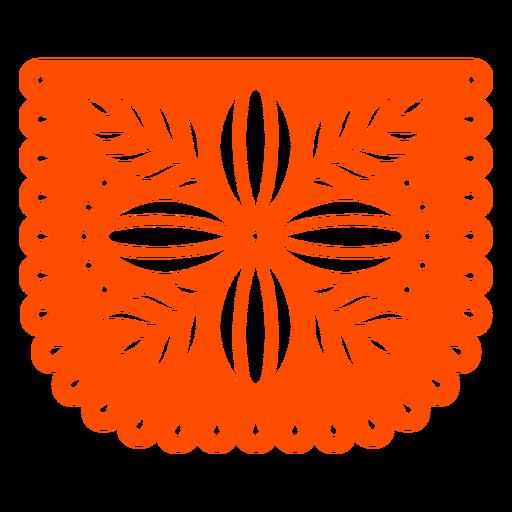 Orange flower papel picado Transparent PNG