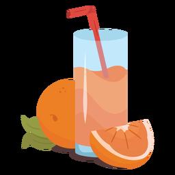 Orange juice flat juice