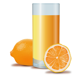 Orange juice realistic design