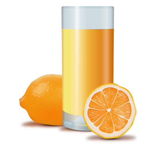Orange juice realistic design