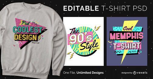 Memphis scalable t-shirt psd