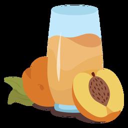 Peach juice flat