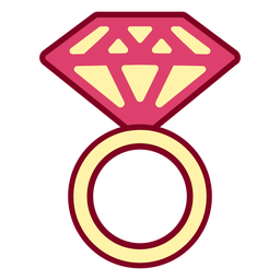 Pink diamond ring flat