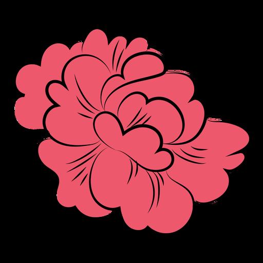 Pink flower petals flat