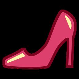 Tacón plano rosa