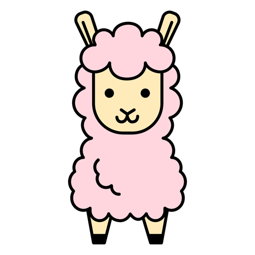 Pink llama flat