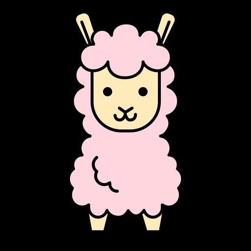 Rosa Lama flach