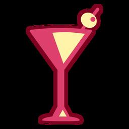 Plano de martini rosa