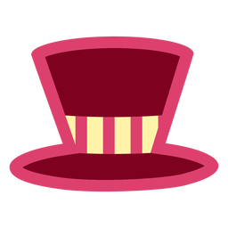 Pink top hat flat