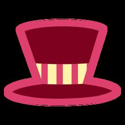 Sombrero de copa rosa plano