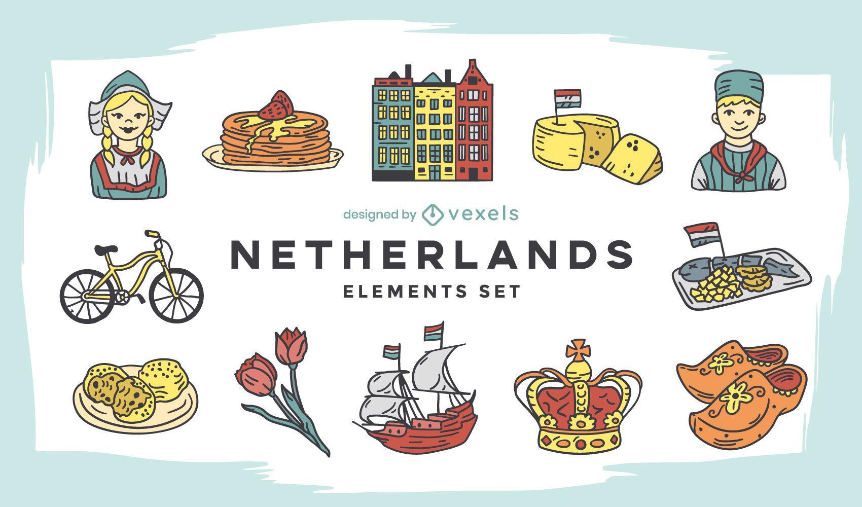Netherlands elements set