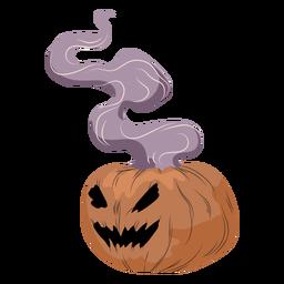 Pumpkin smoke illustration