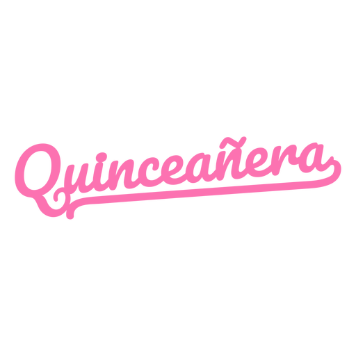 Quinceanera pink lettering