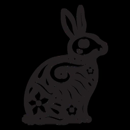 Cr?neo de conejo cortado