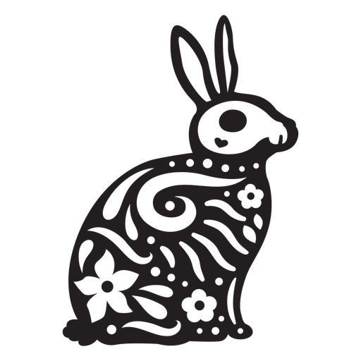 Rabbit skull cut out