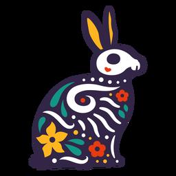 Otomi cráneo de conejo