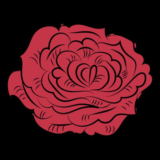 Rose petals nature hand drawn