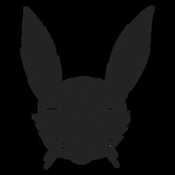 Conejo satánico halloween recortado