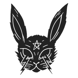 Satanic rabbit halloween cut out