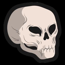 Adesivo de caveira lateral de halloween