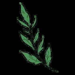Simple branch leaves flat
