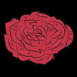 Rosa simples desenhada à mão