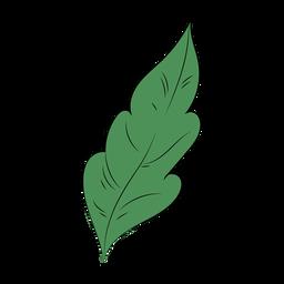 Single leaf plant flat