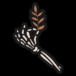 Skeleton hand sticker