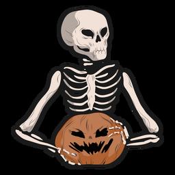 Skeleton jack o lantern sticker