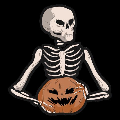 Pegatina esqueleto jack o lantern