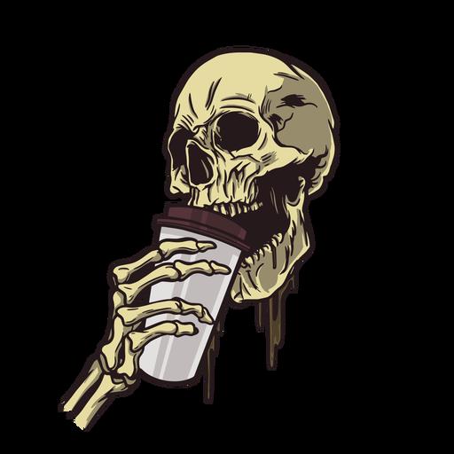 Skull coffee illustration Transparent PNG