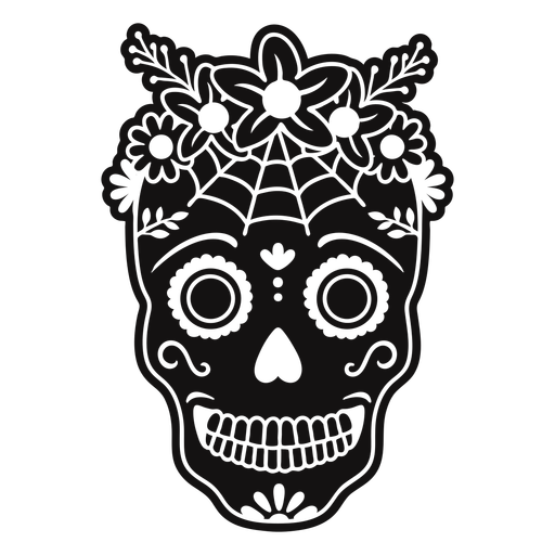 Skull flower crown cut out