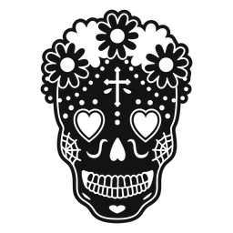 Skull heart eyes cut out