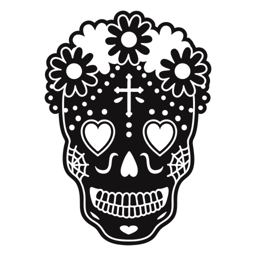Skull heart eyes cut out Transparent PNG