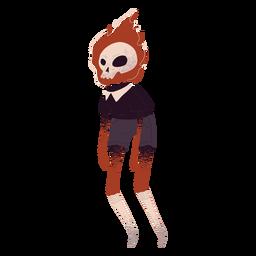 Cráneo de criatura de fuego con textura