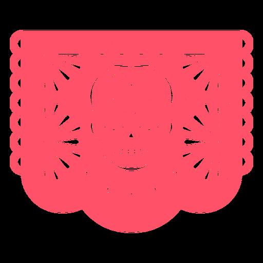 Crânio rosa papel picado
