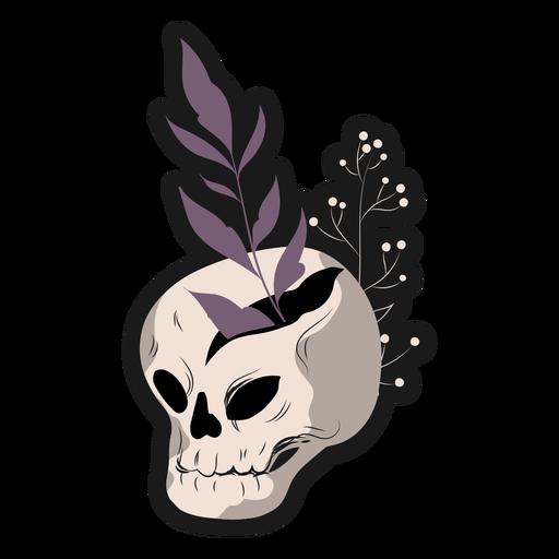 Skull plants sticker