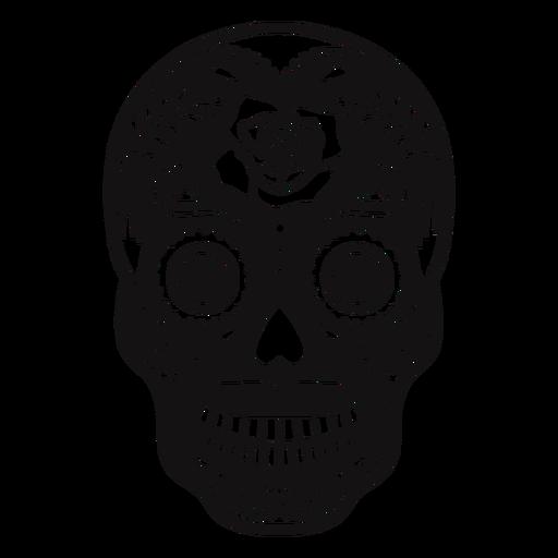 Skull rose cut out Transparent PNG
