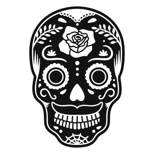 Skull rose cut out