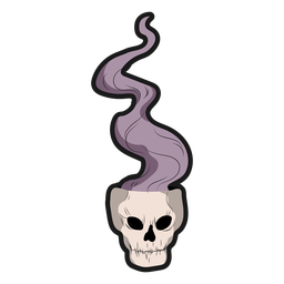 Skull with smoke sticker