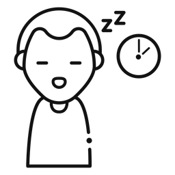 Ícone de homem com sono