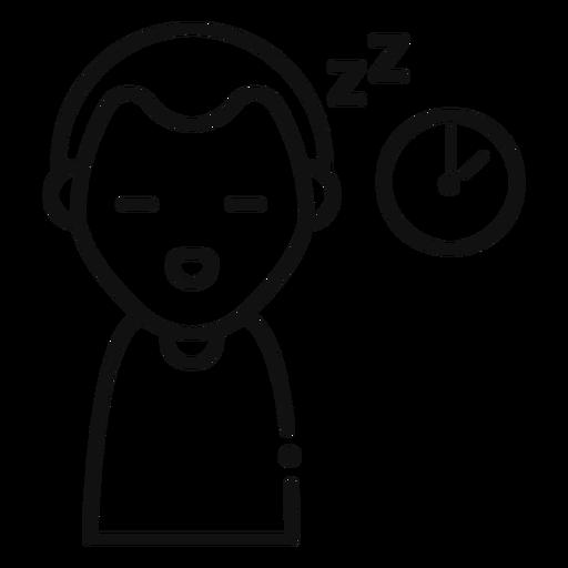Icono de hombre soñoliento