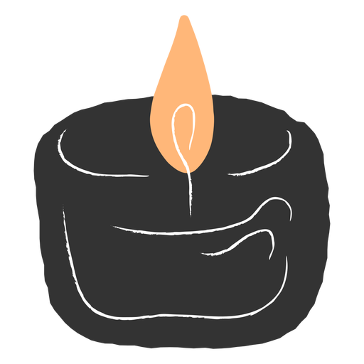 Small lit candle