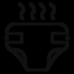 Ícone de fralda fedorenta